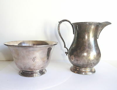 Antique E.G. Webster & Son Silver Plate Creamer & Waste Cup or Sugar