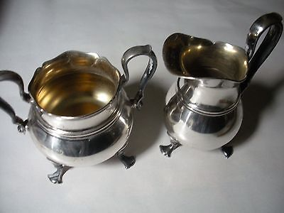 Antique Pairpoint Silver Plate Sugar And Creamer