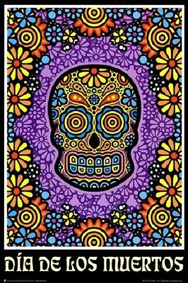 DOD SUGAR SKULL DAY OF THE DEAD POSTER (61x91cm)  PICTURE PRINT NEW ART MUERTOS