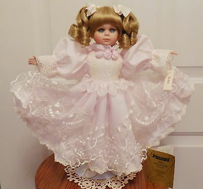 "16 1/2"" ELISE IN SOFT PINK BY SEYMOUR MANN PORCELAIN DOLL COLLECT'N, Ltd."