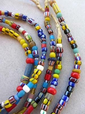 Mixed African Glass Beads -3 Strands