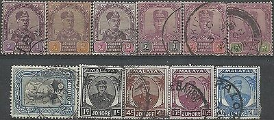 Lot of Stamps from Johore /Malaya/ - British Colonies.