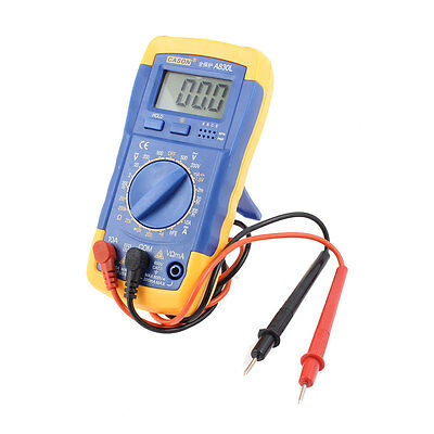Voltmeter Ammeter Frequency LCD Digital Multitester AC/DC Blue Yellow