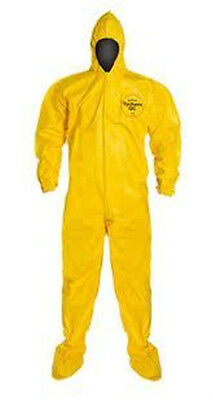 Dupont Tychem Tyvek QC QC122 Chemical Hazmat Suit SIZE SMALL YELLOW NEW