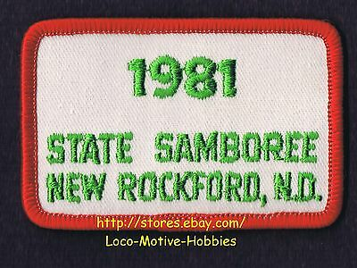 LMH PATCH Badge 1981 GOOD SAM CLUB  Canada  STATE SAMBOREE  New Rockford ND Sams