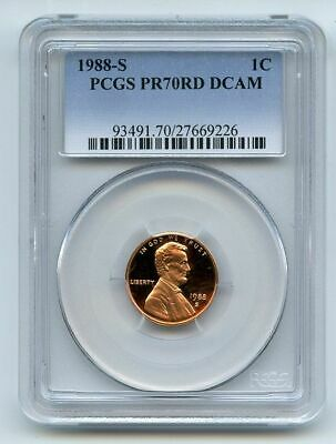 1988 S 1C Lincoln Cent Proof PCGS PR70DCAM