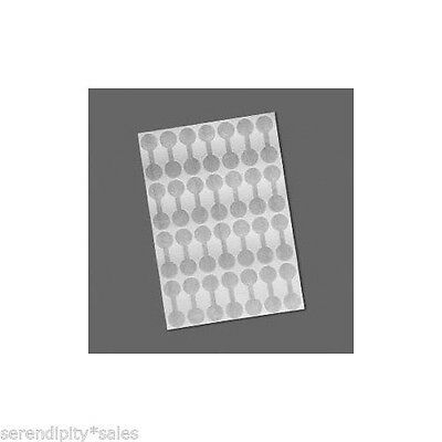 "SHARK SKIN Mylar Price or Repair TAGS 500 Blank SILVER 7/16"" ~ Ring Size Label"