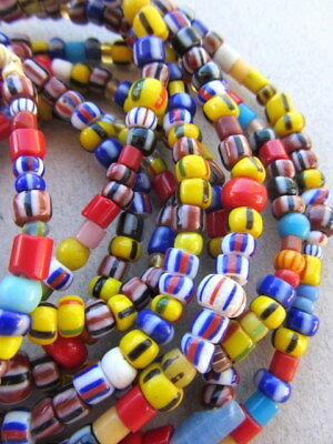 African Glass Beads -3 Strands [60459]