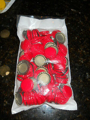 Crown Caps 144 New Red Bottle Caps Standard 26.5 Size For Soda And Beer Bottles