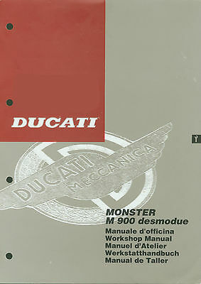 Manuale di Officina DUCATI MONSTER 900 CARB. INTROVABILE !!!