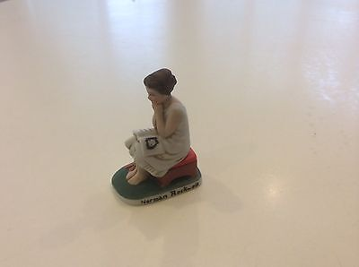 Norman Rockwell day dreamer figure  with Original Label No Box 1979