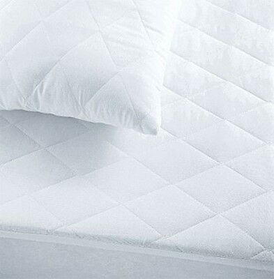 Luxury Quilted Mattress Protector All Sizes Fitted Bed Cover Anti Allergy