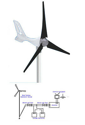 HOME 12V GARDEN GNERATE ELECTIC YOUR SELF 400W Wind Turbine Generator USA STOCK