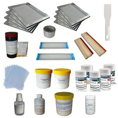 Coming! New T-Shirt Making Supplies Kit Screen Printing Materials &Ink Hand Tool
