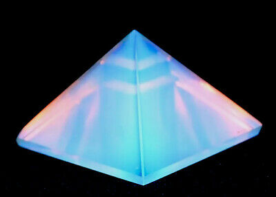 Reiki Energy Charged Opalite Pyramid Crystal Natural Positive Crystal Healing