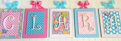 Nursery Letters, Wooden Wall Letters, Hanging Wall Letters, Girls Nursery Letter