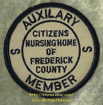 """LMH PATCH Badge CITIZENS NURSING HOME Care Rehab FREDERICK MD Auxiliary ERROR 3"""""""