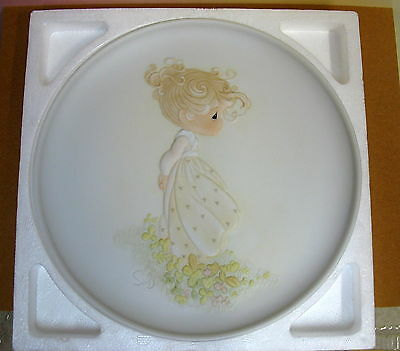 Precious Moments ~ Autumn's Praise ~ Limited Edition Plate #12122 3Rd Issue Nos