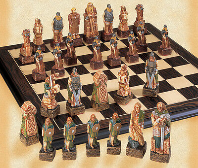 The Celtic Hand Painted Chess Pieces