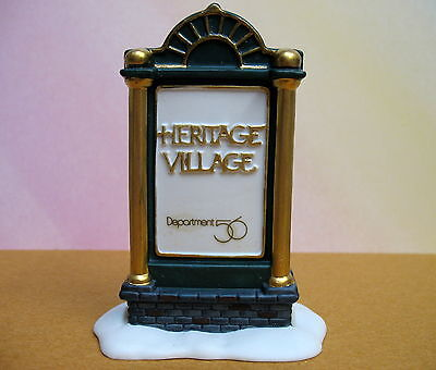 Department 56 Heritage Village Promotional Sign W/ Box ~ Nos