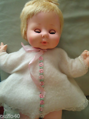 """Vintage  Eegee Softina Doll 16"""" Satinfoam Miracle Vinyl Body Soft and Washable"""