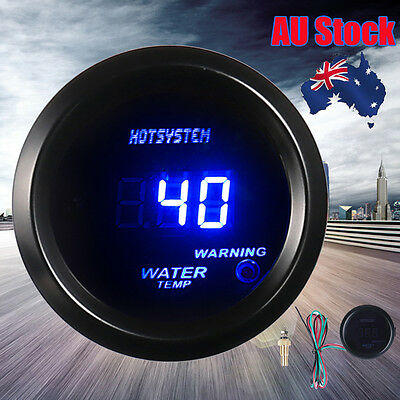 "Hotsystem 2"" 52mm BLUE DIGITAL WATER TEMP TEMPERATURE CELSIUS GAUGE FOR CAR AU"