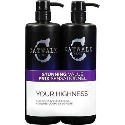 TIGI Catwalk Your Highness Duo Pack 750ml Shampoo & Conditioner Hair Haircare
