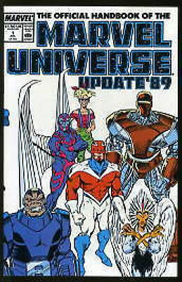OFFICIAL HANDBOOK OF THE MARVEL UNIVERSE UPDATE '89 #1-8 VF/NM COMPLETE SET 1985