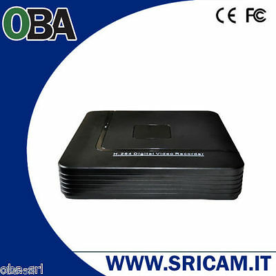 Dvr Recorder 8 Ch Canali Audio Video Hard Disk Fino A 3 Tb Menu Italiano H264