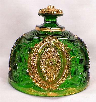 Antique Memphis Butter Dish Lid Only Early American Pressed Glass Cracked As Is
