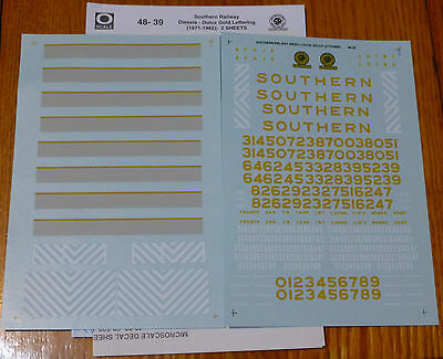 Microscale O #48-39 Southern Railway Diesels (2 Sheets)