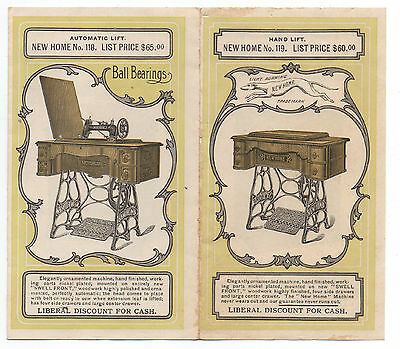 1890s Advertising Brochure for The New Home Sewing Machine 7 Different Models
