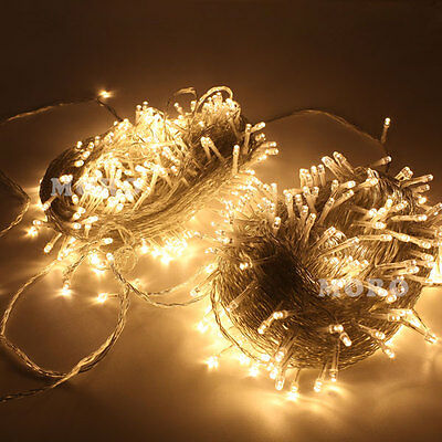 Warm White 100m Fairy String Twinkle Light For Christmas Xmas Party Trees Roof