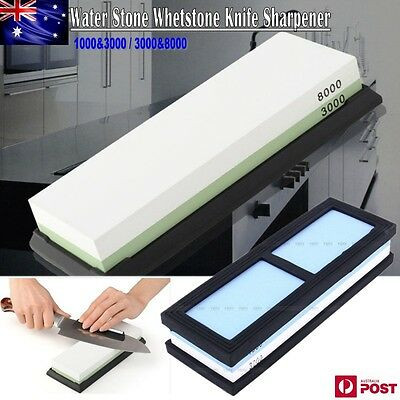 Water Stone Whetstone Knife Sharpener Sharpening Flattening 1000&3000 3000&8000