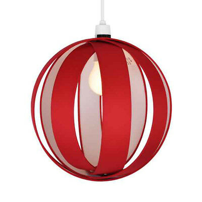 Modern Red Fabric Cocoon Ceiling Light Fitting Pendant Lamp Shade Lampshade NEW