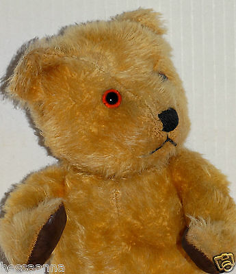 Antique Vintage 1940s Chiltern Hugmee; Mohair Flat Face Teddy Bear AT9211175