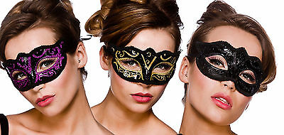 Ladies Masquerade Mask Baroque Ball Mask Fancy Dress Costume Accessories