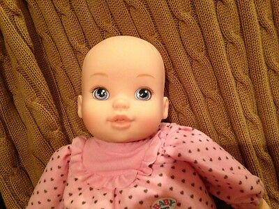 "Zapf Creation Baby Born 13"" Baby Doll Pink Outfit Purple Eyes Adorable Soft Body"