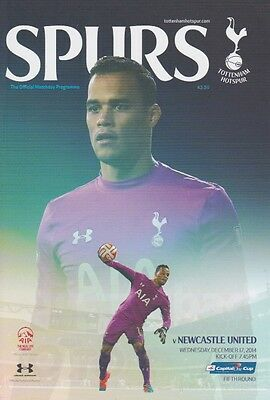 TOTTENHAM v NEWCASTLE 2014/15 CAPITAL ONE CUP MINT PROGRAMME SPURS