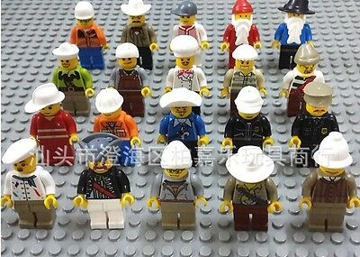 30 New Lots Minifigures Lot Random Grab Bag of Minifigure Guys City Town Set