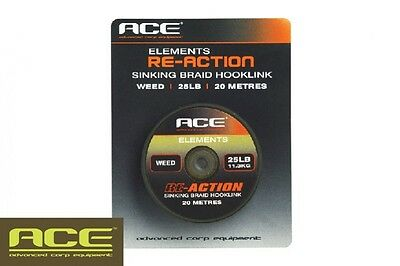 Ace NEW Re-Action Braid Carp Fishing Braided Hooklink SALE *All Colours & Sizes*