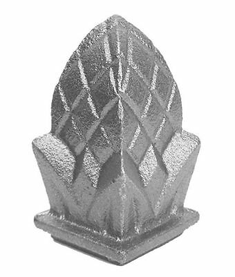 "CAST IRON PINEAPPLE FINIALS-LOT 10 -FIT OVER 3/4"" # 834"