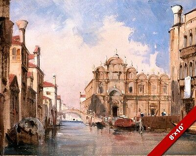 ST MARKS SQUARE VENICE ITALY ITALIAN SAINT PAINTING ART REAL CANVAS GICLEE PRINT