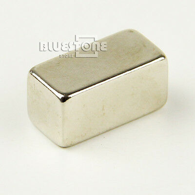 1 Super Strong Block Cuboid Magnet Rare Earth Neodymium 20 x 10 x 10 mm N35