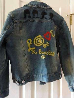 Rare Beatles Embellished Denim Jacket W/ Patches & Bling 2007 Apple Corps Sz Xl