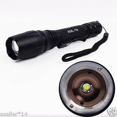 AC11 Zoomable Flashlight Torch CREE XM-L T6 LED 1800 Lumen Zoom Lamp for 2x18650