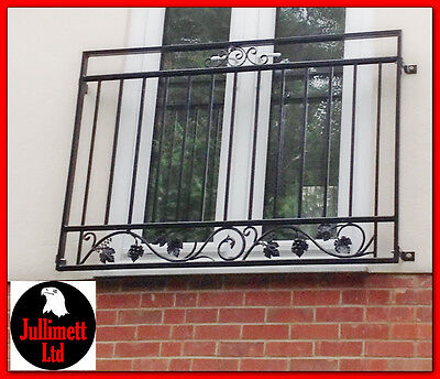 Juliet balcony metal balustrade p.coated wrought iron design 16 of 26 Jullimett