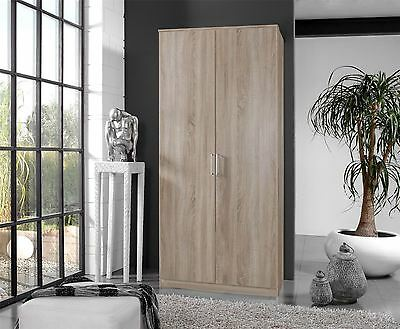 German 2 Door Oskar Oak 2 Door 90cm Tall Wardrobe
