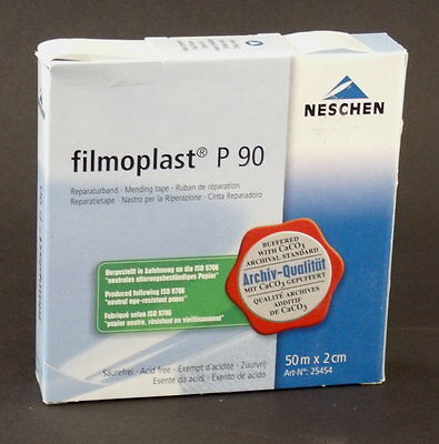 FILMOPLAST P-90 WHITE ARCHIVAL REPAIR TAPE for BOOKS DOCUMENTS PAGES