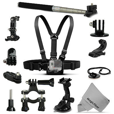 All in One. PRO Mount Sport Accessory Kit for GoPro Hero4 Hero3+ 3 Action Camera